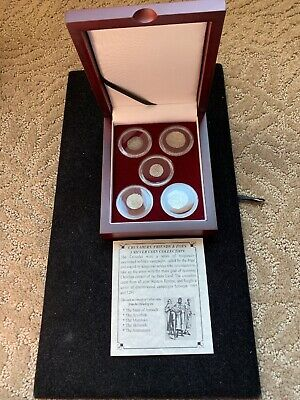 Crusader, Friends & Foes 5 Silver Coin Collection -Wood Presentation Box COA