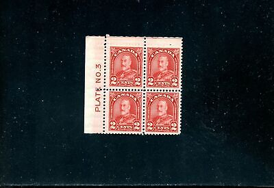 Lot 84750 Mint H 165 Ul Plate 3 Block Blind Perfs King George V Arch Leaf Canada