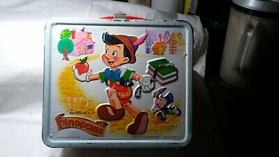 Pinocchio Walt Disney Productions Lunch Box