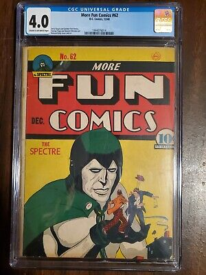 More FUN COMICS #62 CGC 4.0