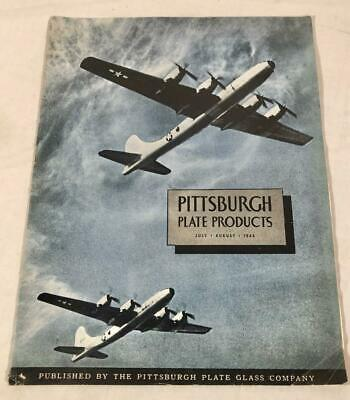 1944 July August Wwii Issue Pittsburgh Plate Product W/ War Bond Ad Back Cover