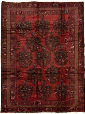 "Hand-knotted Carpet 7'3"" x 9'7"" Traditional Vintage Wool Rug"