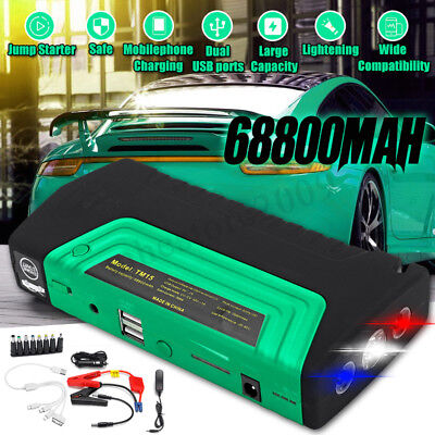 68800mAH Car Jump Starter 4 USB Emergency Charger Booster Power Bank