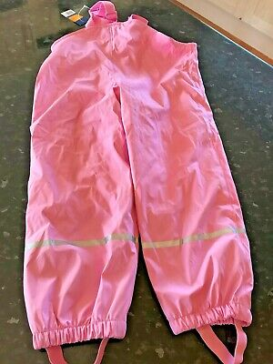 Lupilu – Girls Pink Fleece Lined Waterproof Dungaree Trousers (4 to 6 Years) NWT