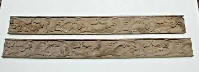 Rare Hand Carved French Gothic Fancy Church Wood Carving Plaques
