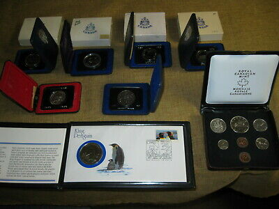 Lot 8 CANADA PROOF SETS Canadian Dollars 1970 1971 1972 1974 1975 Provinces