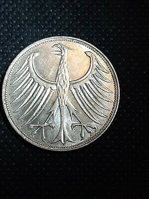 1968-D Germany 5 Mark .625 Silver Coin