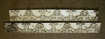 """Rare 55"""" Hand Carved Gothic French Chateau Style Bracket Shell Wood Sculptures"""