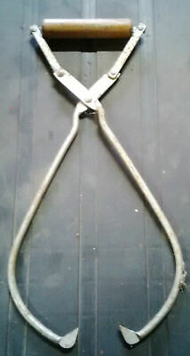 Antique Hudson Coal and Ice Tongs