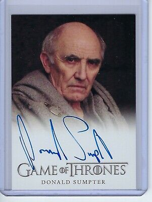 2012 Game of Thrones Donald Sumpter as Maester Luwin Autograph Auto