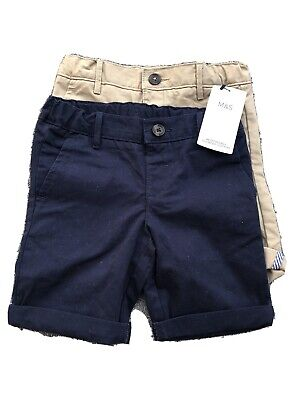 BNWT Marks And Spencer Boys Shorts 2 Pack - 3-4 Years
