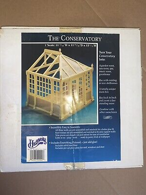 "Houseworks ""The Conservatory"" #9900 Unfinished 1/12th (1"") Scale Model House Kit"