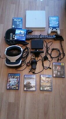 sony ps4 console with vr head set