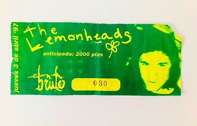 The Lemonheads Entrada, Ticket Concierto Año 97 Sala En Bruto Zaragoza