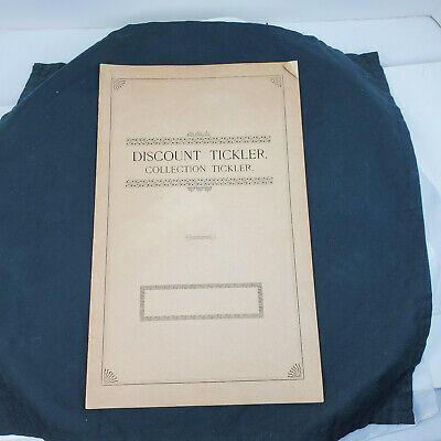 Vintage DISCOUNT / COLLECTION TICKLER Bookkeeping system UNUSED 12 pgs + cover