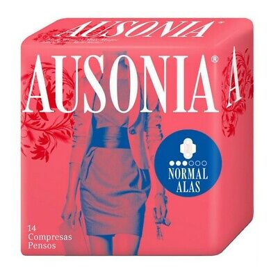 Normal Sanitary Pads with Wings Ausonia (14 uds)