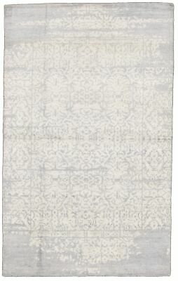 "Hand-knotted  Carpet 4'11"" x 7'11"" Jules Ushak Transitional  Rug"
