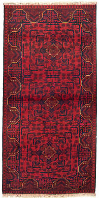 "Hand-knotted Carpet 2'9"" x 6'2"" Traditional Vintage Wool Rug"