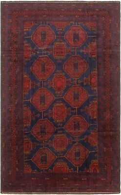 "Hand-knotted Carpet 6'3"" x 10'2"" Traditional Vintage Wool Rug"