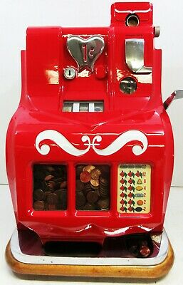 MILLS 5c QT Sweetheart Slot Machine circa 1930 fully restored