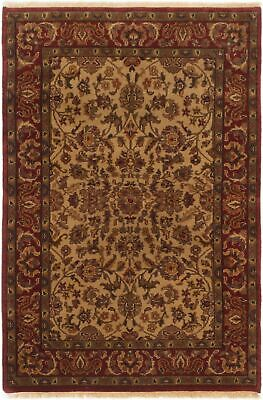 "Hand-knotted Carpet 4'0"" x 5'10"" Sultanabad Traditional Wool Rug"