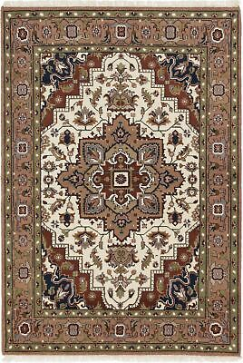"Hand-knotted  5'3"" x 7'7"" Royal Heriz Traditional Wool Rug"