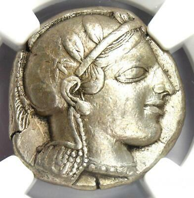 Athens Greece Athena Owl Tetradrachm Coin (Early 455-440 BC) - NGC Choice VF!