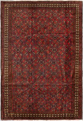 "Hand-knotted Carpet 6'8"" x 9'6"" Traditional Vintage Wool Rug"