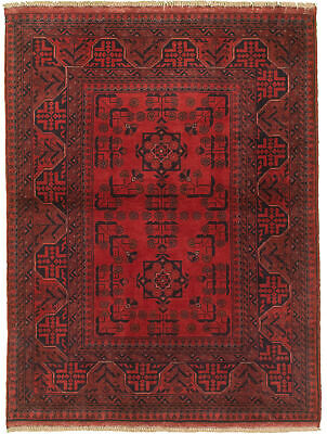 "Hand-knotted Carpet 3'4"" x 4'11"" Traditional Vintage Wool Rug"