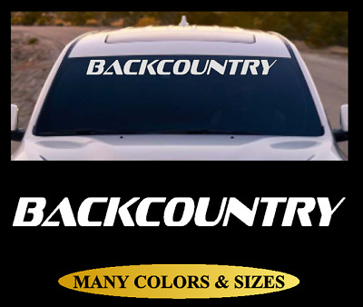 BACKCOUNTRY Windshield Banner Vinyl Decal Sticker Car Truck SUV White Red #5
