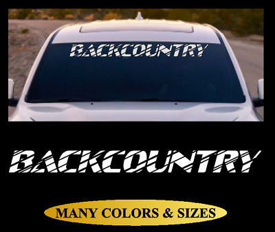 BACKCOUNTRY Windshield Banner Vinyl Decal Sticker Car Truck SUV White Red #6