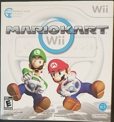 Brand NEW Mario Kart Wii Game with Wii Wheel for Nintendo Wii