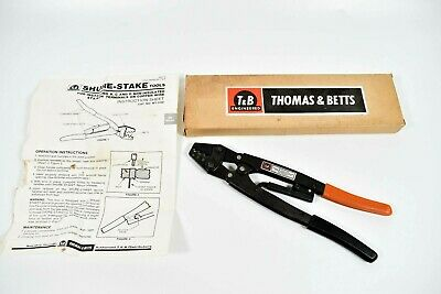 Thomas & Betts WT-3155 Crimping Tool STA-KON B, C, D Non-Insulated Shure Stake