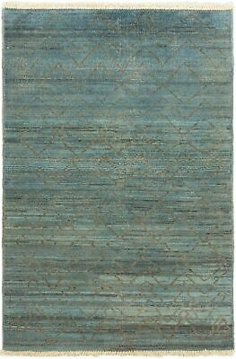 "Hand-knotted  Carpet 4'2"" x 5'11"" Vibrance Transitional Wool Rug"