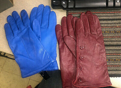 Women's Blue Gloves Wilson Leather Size L New With Tag