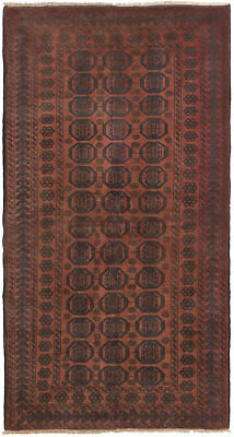 "Hand-knotted Carpet 3'6"" x 6'9"" Traditional Vintage Wool Rug"