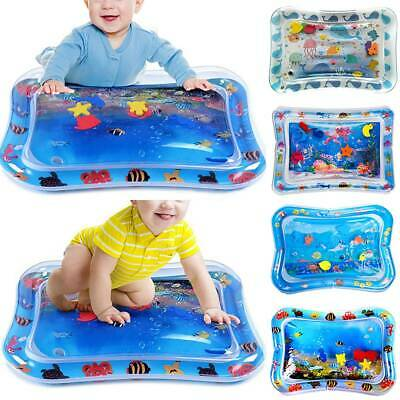 Baby Water Mat Tummy Time Inflatable Play Mat Activity Gym Crawling Toddlers