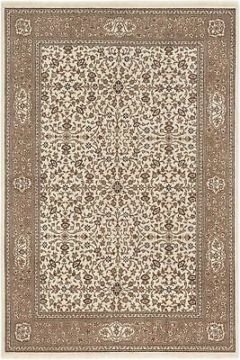 "Hand-knotted  5'9"" x 8'7"" Bordered, Floral, Traditional Wool Rug"