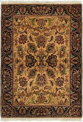 "Hand-knotted Carpet 4'1"" x 5'11"" Sultanabad Traditional Wool Rug"