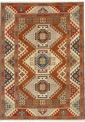 "Hand-knotted  5'8"" x 7'11"" Royal Kazak Traditional Wool Rug"