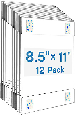Acrylic Sign Holder 8.5 x 11 Sign Holders Plastic Frames Clear Frame 8.5x11 Wall