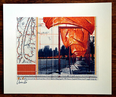 Christo  offset Lithography Gates 31 x 26,5 cm hand signed