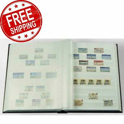 Lighthouse Basic Stockbook Stamp Collecting Album 6.5 x 9 16 White Pages Red NEW