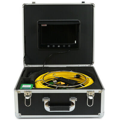 "9"" LCD Screen Waterproof Drain Pipe Sewer Inspection Camera 30M Cable HD 1000TVL"