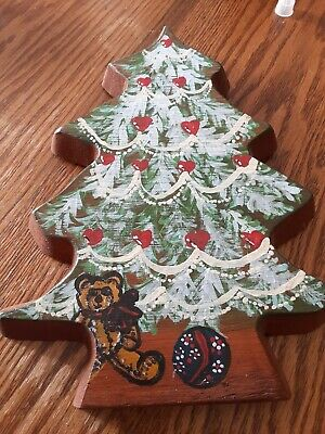 Wooden Christmas Tree Plaque made by local artist