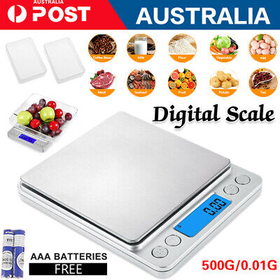 0.01-500G Kitchen Digital Scale LCD Electronic Balance Food Weight Postal Scales