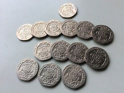 Super & Unusual Run Of High Quality Twenty Pence Coins 1989-1999 Plus 3 More