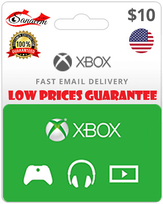 Xbox Live  Gift Card $10 $15 $20 $25 $50 $100 For Us Xbox Live Account Only