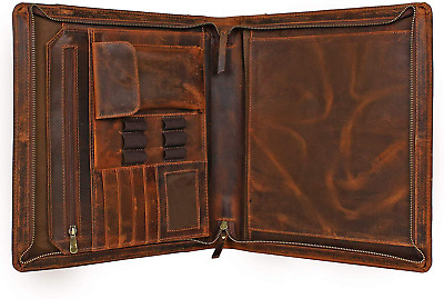 Business Leather Padfolio Leather Portfolio | Professional Organizer Gift for Me