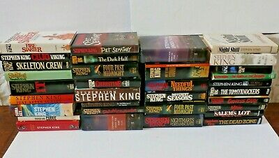 Stephen King Books Hardcover Lot Of 33 HC The Shining Carrie Cujo IT Misery etc
